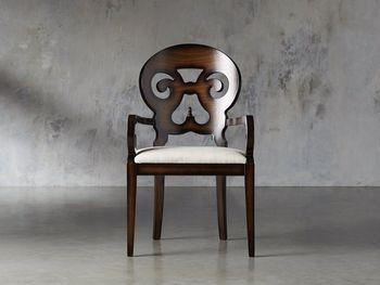 "Jordan 25"" Dining Arm Chair Upholstered In Noceto"