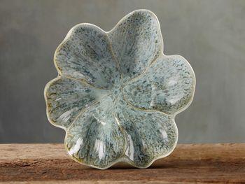 "Magnolia 12"" Plate In Heather Blue"