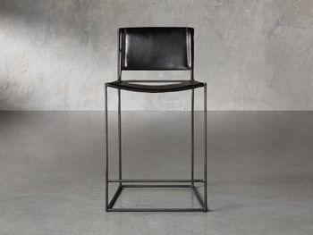 """Oeste 19"""" Counter Stool In Black Coffee"""