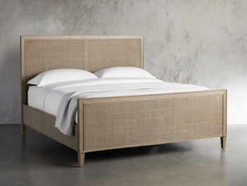 """Pearson 57"""" Gallery Cane Queen Bed In Basa Natural"""