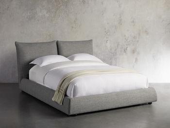 "Rigby Upholstered 40"" King Bed In Prestige Fog"