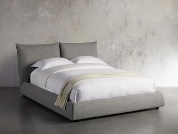 """Rigby Upholstered 40"""" Queen Bed In Prestige Fog"""