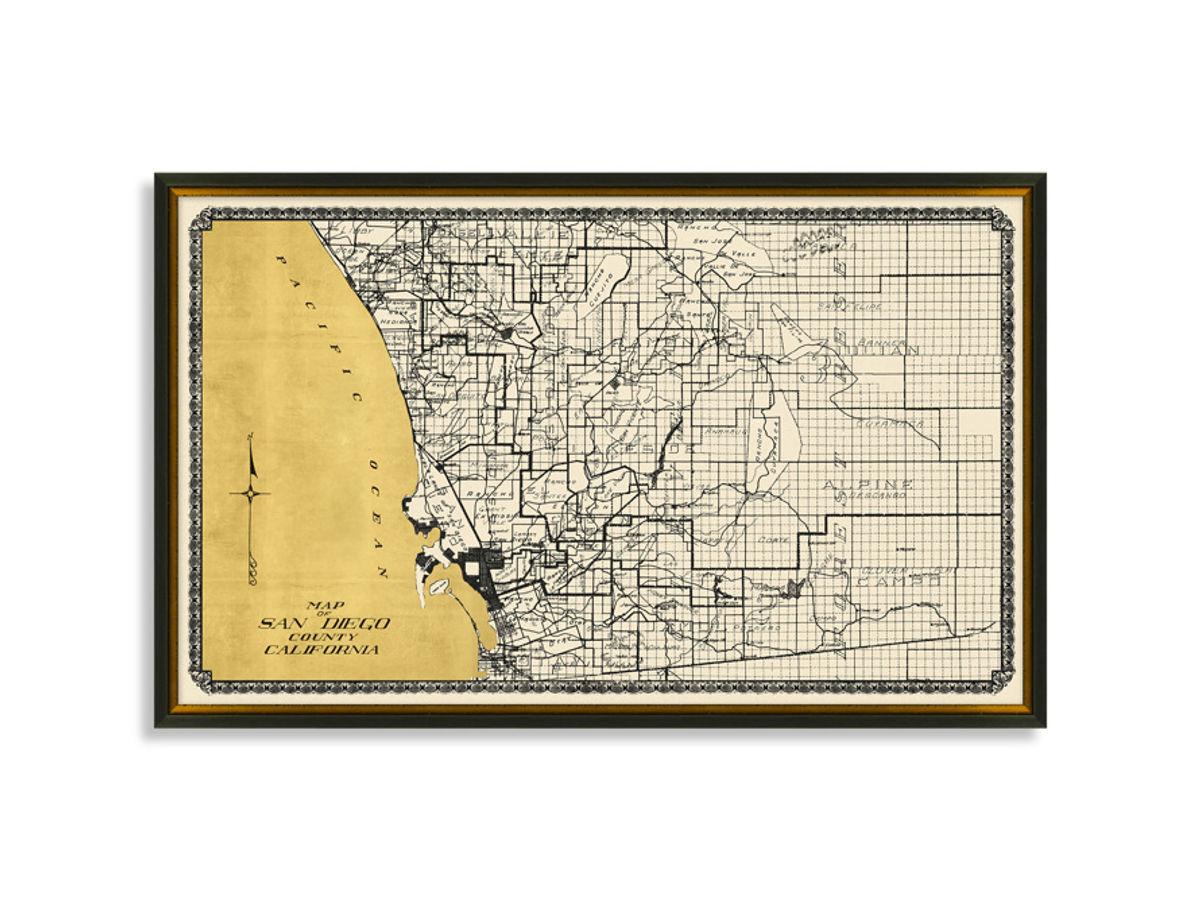 San Diego Gold Leaf Map