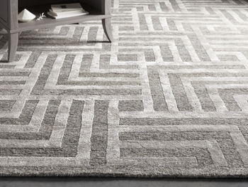 Trellis Hand-Knotted Rug In Charcoal 9X12