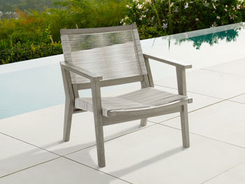 """Tulum Outdoor 31"""" Lounge Chair In White"""