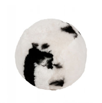Icelandic Shearling Pouf Spotted