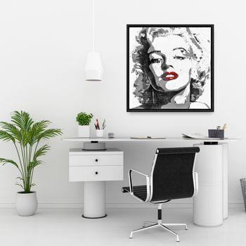 Marilyn Monroe 25.26 X 25.26, Framed Stretched Canvas