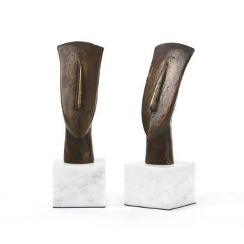 Delos Head Statue, Bronze