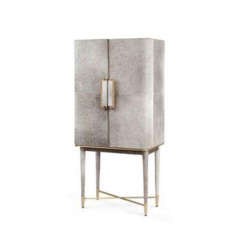 Florian Tall Bar Cabinet, Gray