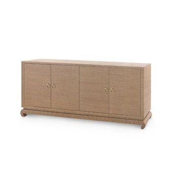 Meredith Extra Large 4-Door Cabinet, Brown