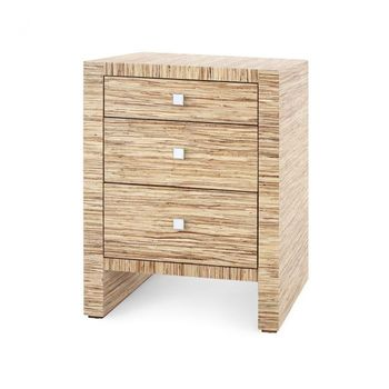 Morgan 3-Drawer Side Table, Natural