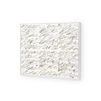 Notes Framed Silk Panel, Green