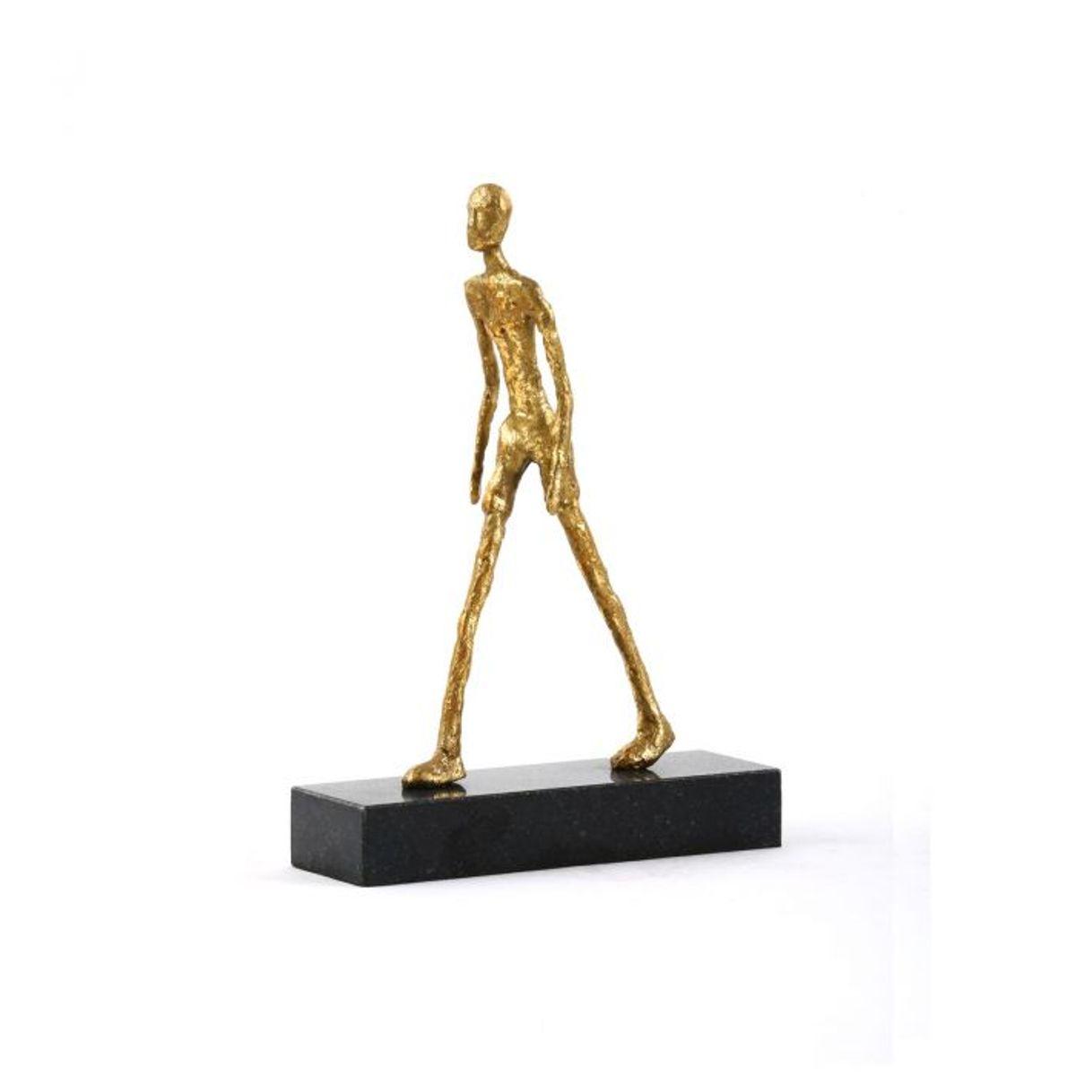 Walking Man Statue, Gold