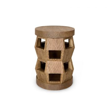 Zanzibar Stool/Side Table, Driftwood