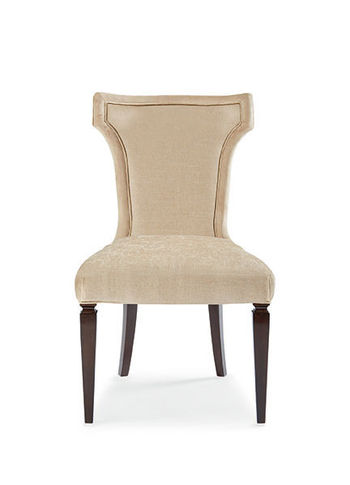 Chenille Side Chair With Gingko Leaf Pull - Set Of 2