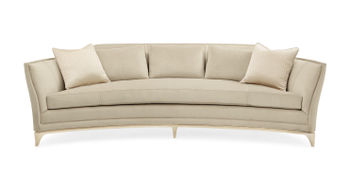 Curved Sofa With Silver Leaf Frame