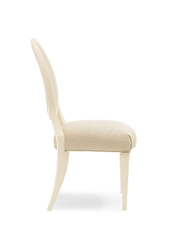 Shimmer Round Back Dining Chair With Ivory Frame