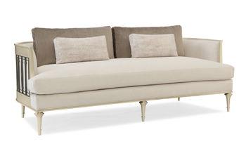 Sofa With Metal Wraparound Metal Detail