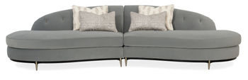 Three's Company Curved Armless Sectional