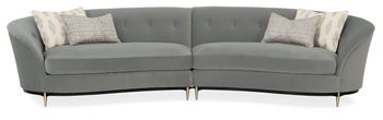 Three's Company Curved Sectional