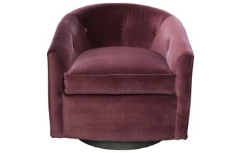 Azalea Chair W/ Swivel, Walnut Base
