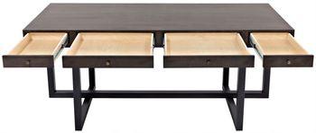 Maddox Desk, Walnut/Steel