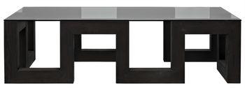 Reclaimed Lumber Edinburgh Coffee Table W/ Tempered Glass Top