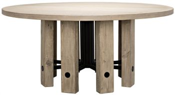 Reclaimed Lumber Monstro Round Dining Table