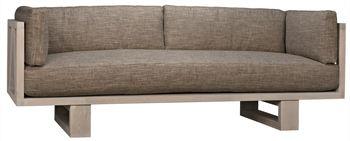 Regina Modern Sofa, Oak Frame