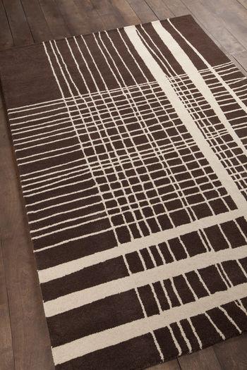 "Rug, Modern Geometric Style, 100% Wool, Hand-tufted, 96"" x 120"""