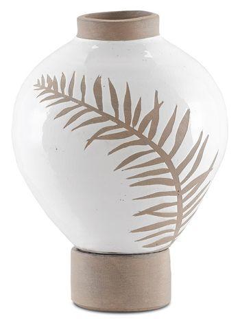 Fern Small White Vase