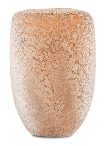 Coral Blown Glass Vase