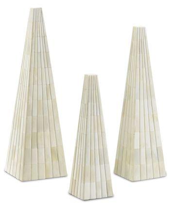 Ossian White Obelisk Set
