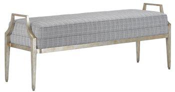 Torrey Tuxedo Silver Bench