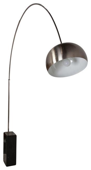 Arco Floor Lamp, Black Marble