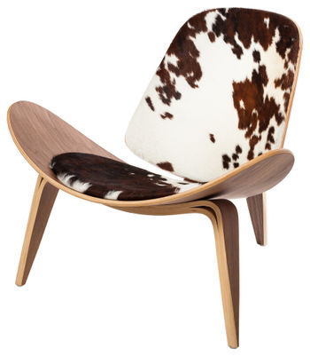 Athena Lounge Chair, Cow Hide
