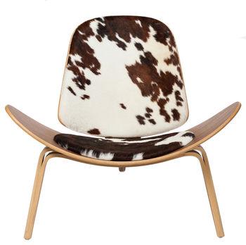 Wood Chair, Cow Hide