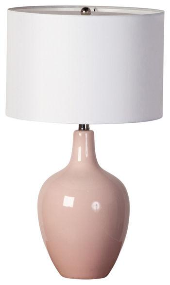 Ceramic Table Lamp, Blush Pink