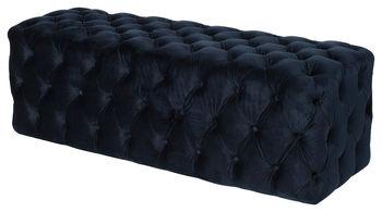 Grace Tufted Bench, Navy Blue Velvet