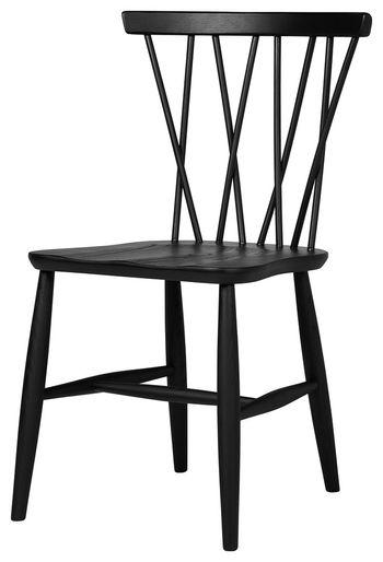 Nakashima Style Dining Chair, Black