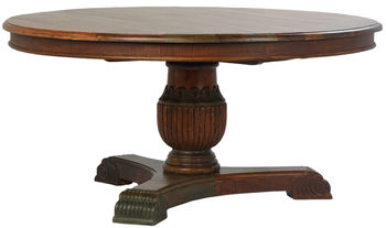"""Beck Round Dining Table 63"""""""