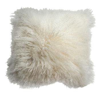 Mohair Pillow White