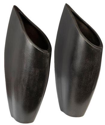 Vase Black Set Of 2