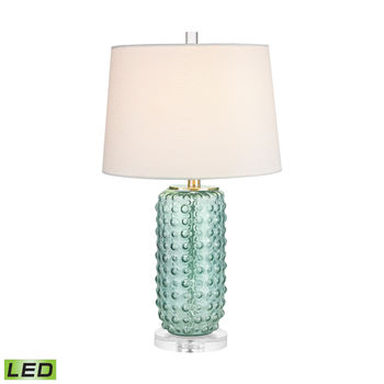 Caicos Table Lamp In Green - Led
