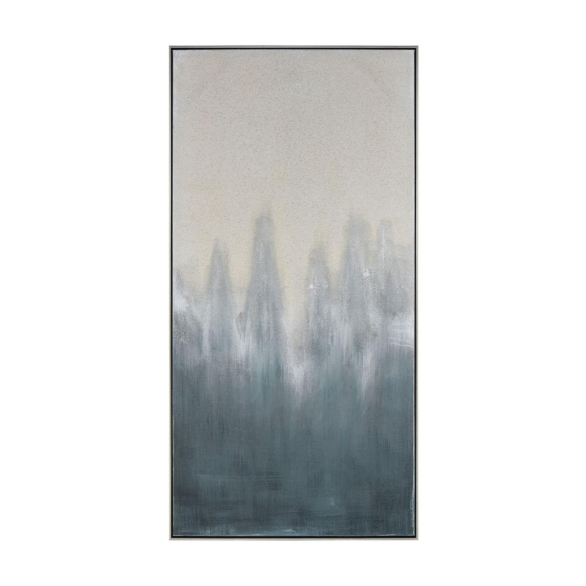 Dark Crash Wall Decor In Grey And Cream