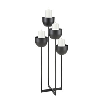 Tulip Candle Holder In Black