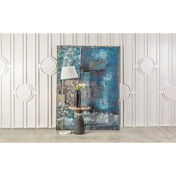 Vance Floor Lamp In Aged Brass And White