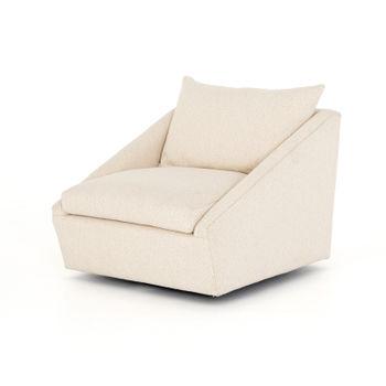 Arrow Swivel Chair-Dobie Ecru