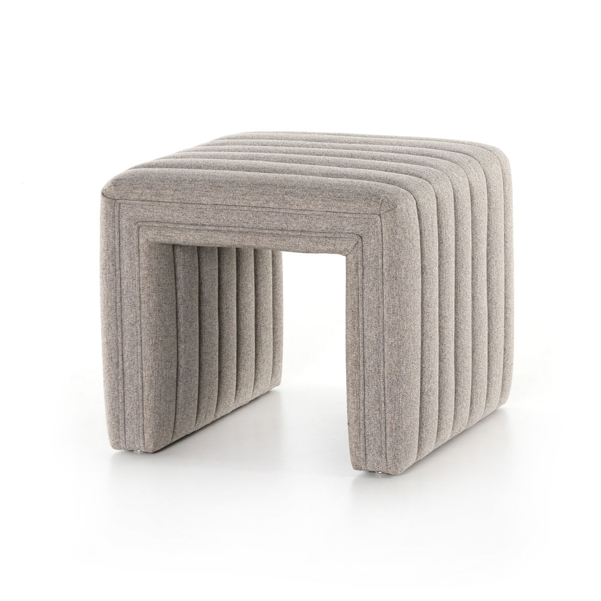 """Augustine Ottoman in Orly Natural 21"""""""