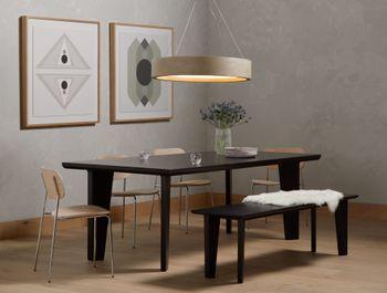 Axel Dining Table, Black Wash Poplar